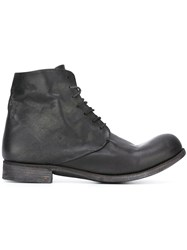 A Diciannoveventitre Lace Up Workboots Black