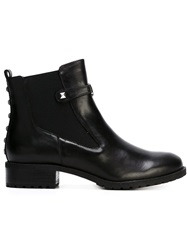 Armani Jeans Studded Ankle Boots Black
