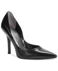 Guess Carrie Pumps Women's Shoes Black Leather