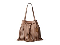 Frye Heidi Fringe Bucket Grey Soft Vintage Leather Shoulder Handbags Taupe