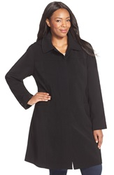Gallery Hooded Nepage Raincoat Plus Size Black