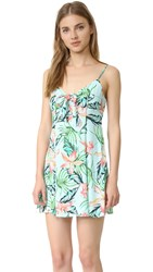 Minkpink Sunshine Coast Tie Front Dress Multi