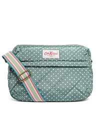Cath Kidston Quilted Double Zip Bag In Mini Dot Print Minidot