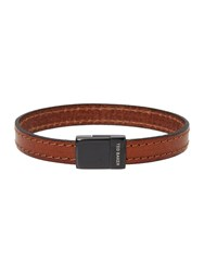 Ted Baker Bus Stitched Leather Bracelet Tan