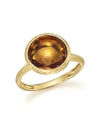 Marco Bicego 18K Yellow Gold Jaipur Ring With Citrine Orange Gold