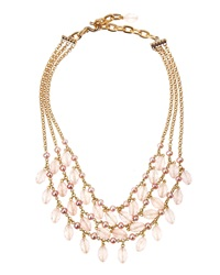 Stephen Dweck Rose Quartz And Pink Pearl Tiered Necklace