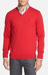 Men's Victorinox Swiss Army 'Signature' Tailored Fit V Neck Sweater Ibach Red