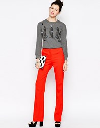 Antipodium Century Straight Leg Trousers Orange