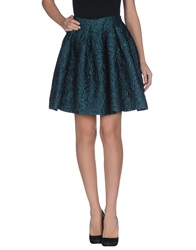 Charlott Knee Length Skirts Deep Jade