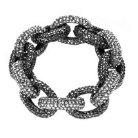 Shay Accessories Pave Crystal Chunky Link Bracelet Silver