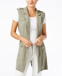 Guess Military Belted Vest Helmut Green