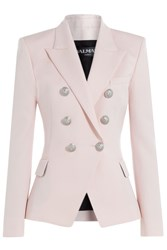 Balmain Wool Blazer With Embossed Buttons Rose