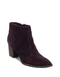 Dolce Vita Lennon Suede Ankle Booties Oxblood