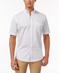 Club Room Men's Anchor Dot Print Shirt Only At Macy's Bright White