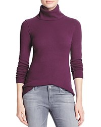 Aqua Cashmere Turtleneck Cashmere Sweater Wine