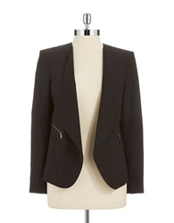 Calvin Klein Plus Shawl Collared Blazer Black