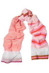 Lemlem Walsh Split Neon Striped Cotton Blend Scarf