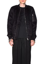 Rick Owens Flight Bomber Jacket In Black