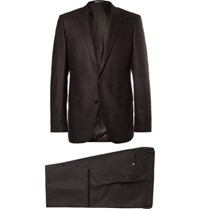 Hugo Boss Black Slim Fit Stretch Wool And Cashmere Blend Flannel Suit Black