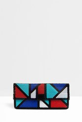 Del Duca Women S Giuliana Graphic Clutch Boutique1 Multi