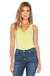 Feel The Piece Lilith V Neck Racer Back Tank Yellow
