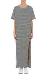 Nsf Women's Striped Jersey Long T Dress Black