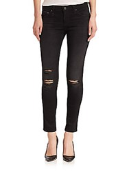 Ag Adriano Goldschmied Distressed Legging Ankle Jeans 4 Years Twilight Shredded