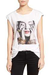 Pam And Gela Women's Frankie Embellished Muscle Tee