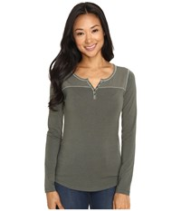 Kuhl Veloce Long Sleeve Top Sage Women's Long Sleeve Pullover Green