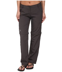 Jack Wolfskin Marrakech Zip Off Pants Dark Steel Women's Casual Pants Brown