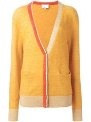 3.1 Phillip Lim Contrast Trim Cardigan Yellow And Orange