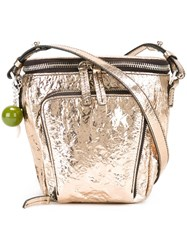 M Missoni Zip Bucket Shoulder Bag Metallic