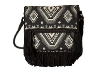 Scully Loretta Fringe Handbag Black White Handbags