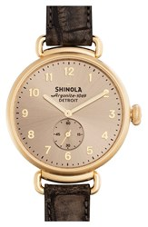 Women's Shinola 'The Canfield' Leather Strap Watch 38Mm