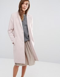 New Look Tailored Pea Coat Nude Pink