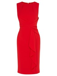 Coast Curve Crepe Dress Red