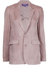 Ralph Lauren Black Label Suede Blazer Pink And Purple