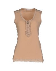 Vdp Club Topwear Tops Women Camel