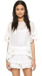 English Factory Lace Blouse Off White