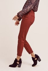 Anthropologie Citizens Of Humanity Liya Ultra High Rise Straight Jeans Red
