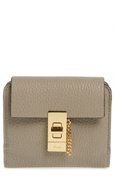 Chloe Women's 'Drew' Calfskin Leather Square Wallet Grey Motty Grey