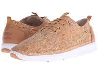 Toms Del Rey Multi Painted Cork Men's Lace Up Casual Shoes Beige