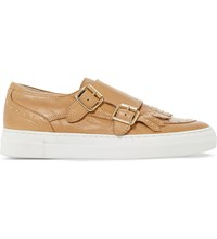 Dune Ervyn Leather Trainers Camel Leather
