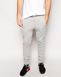 Solid Solid Sweat Pants With Cuffed Hem 8242Lightgrey