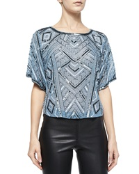 Parker Beaded Short Sleeve Top Frost