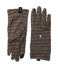 Smartwool Nts Mid 250 Pattern Glove Sunglow Heather Liner Gloves Brown