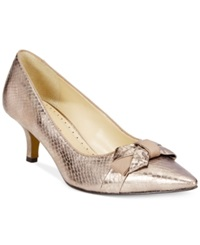Adrienne Vittadini Peridot Pumps Women's Shoes Champagne