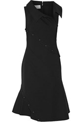 Monse Button Detailed Stretch Wool Blend Dress Black
