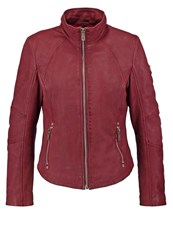 Gipsy Elya Leather Jacket Ox Red Brown