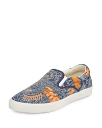 Bucketfeet Voyage Canvas Slip On Sneaker Navy Orange
